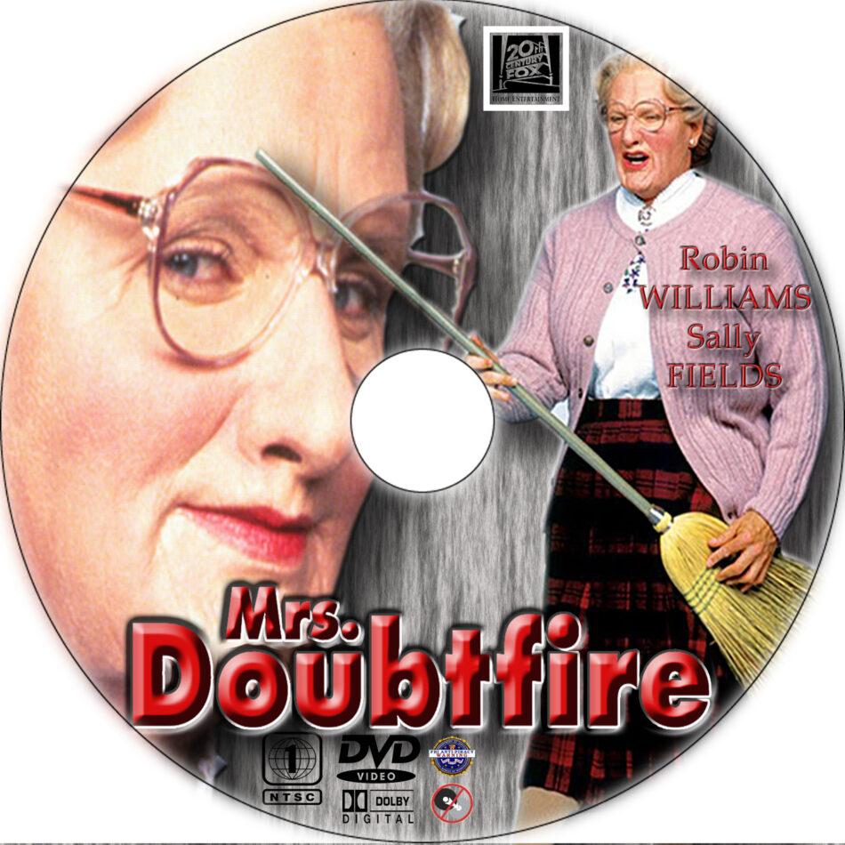 Mrs Doubtfire Dvd Label 1993 R1 Custom Art