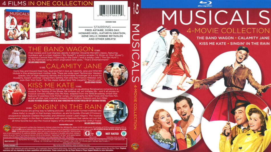 Musicals - 4 Movie Collection (Blu-ray) dvd cover