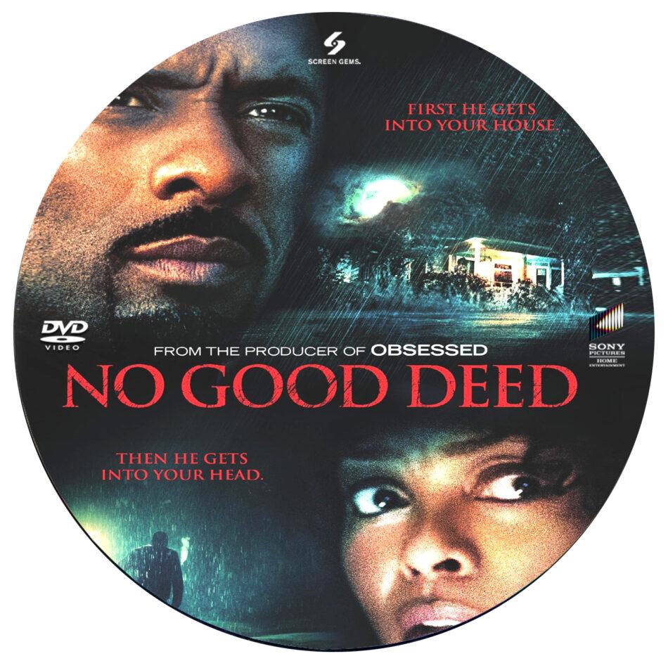 No Good Deed dvd label