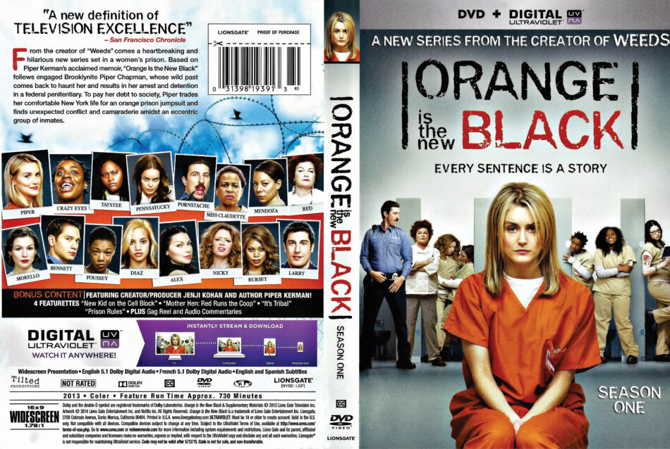 Orange Is the New Black season 1 dvd cover