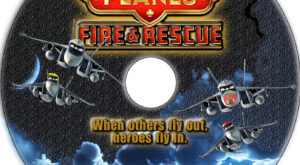 Planes: Fire & Rescue dvd label