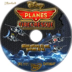 Planes: Fire & Rescue dvd label