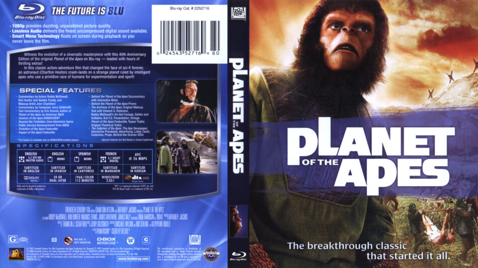Planet of the Apes (Blu-ray) dvd cover