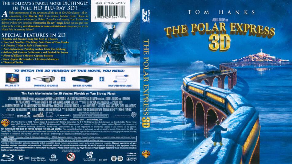 The Polar Express 3D Blu-Ray DVD Cover