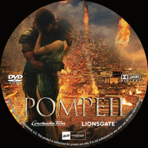Pompeii Custom DVD Label