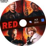 Red (2010) Custom Blu-Ray DVD Label