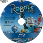 Robots (2005) Blu-Ray DVD Label