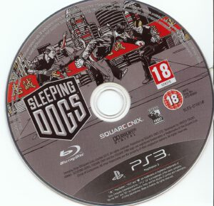 Sleeping Dogs dvd label ps3