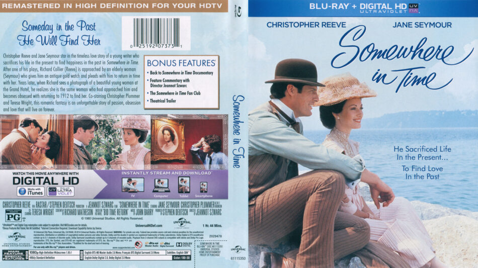 Somewhere In Time (Blu-ray) dvd cover
