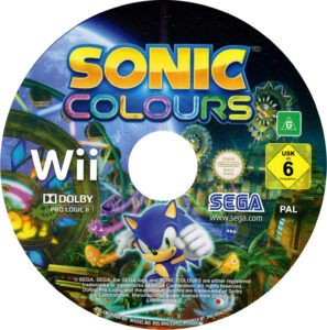 Sonic Colours Wii PAL Disk
