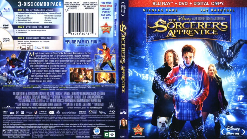 Sorcerer's Apprentice, The (Blu-ray) dvd cover