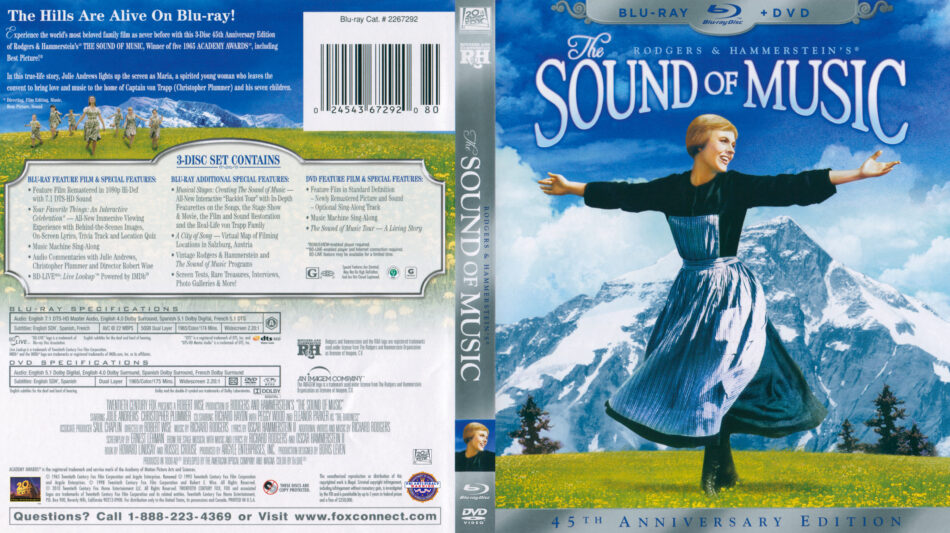 Sound of Music, The (Blu-ray) dvd cover