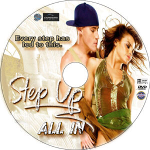 Step Up All In dvd label