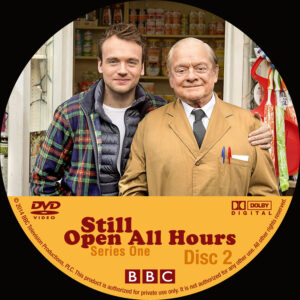 Still Open All Hours series one dvd label