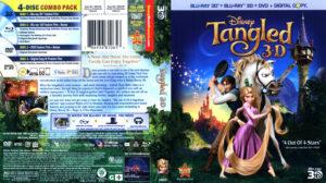 Tangled 3D (Blu-ray) dvd cover