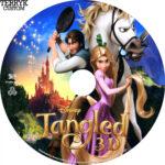 Tangled 3D (2010) Custom Blu-Ray DVD Label