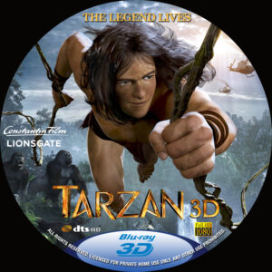 Tarzan 3D BD custom label (Pips)