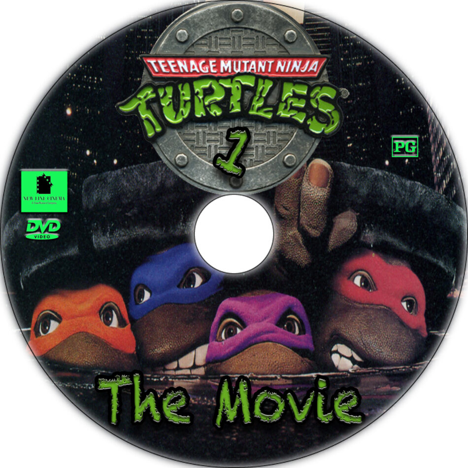 Teenage Mutant Ninja Turtles dvd label