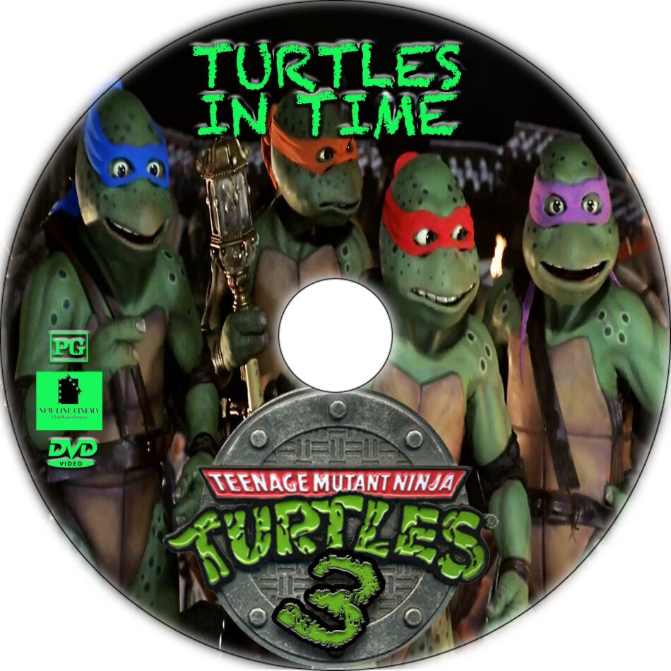 Teenage Mutant Ninja Turtles III dvd label