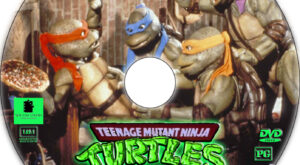 Teenage Mutant Ninja Turtles II: The Secret of the Ooze dvd label
