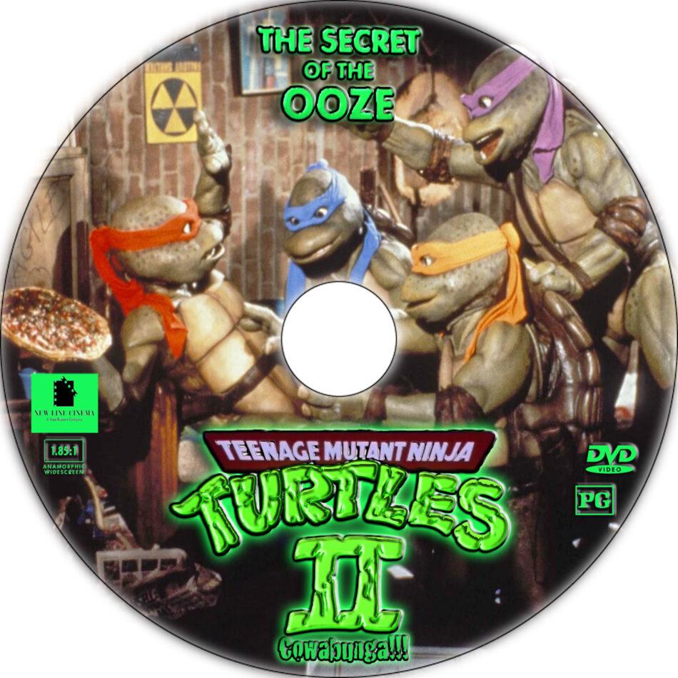 Teenage Mutant Ninja Turtles II: The Secret of the Ooze dvd label