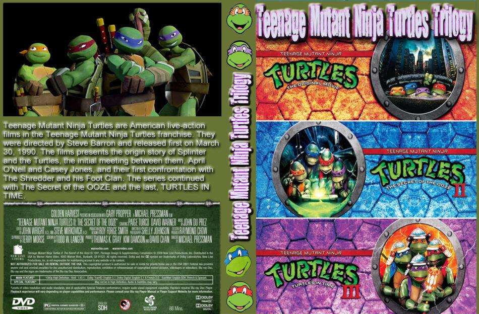 Teenage Mutant Ninja Turtles trilogy dvd cover