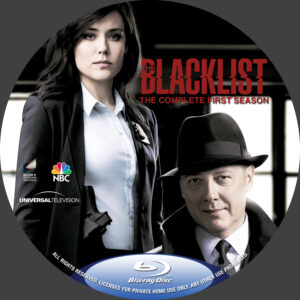 The Blacklist season 1 blu-ray dvd label