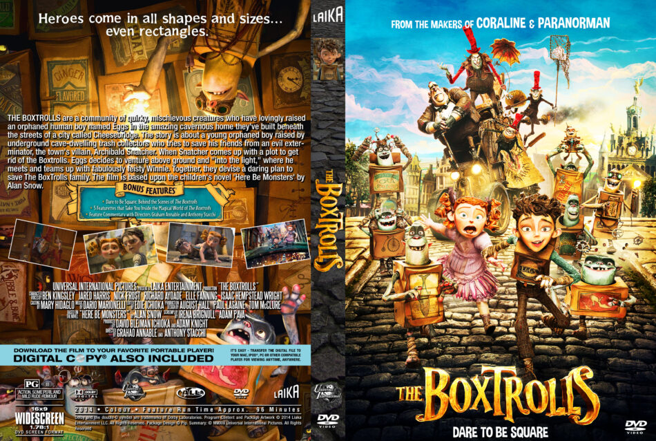 The Boxtrolls dvd cover
