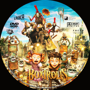 The Boxtrolls dvd label
