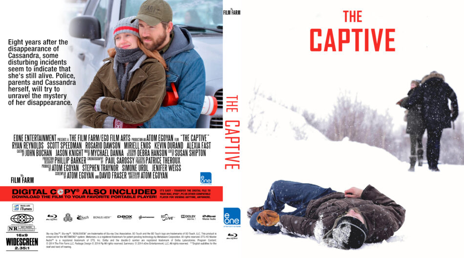 The Captive blu-ray dvd cover