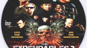 The Expendables 3 dvd label