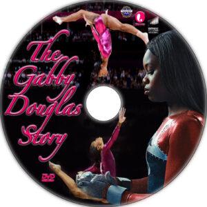 The Gabby Douglas Story dvd label