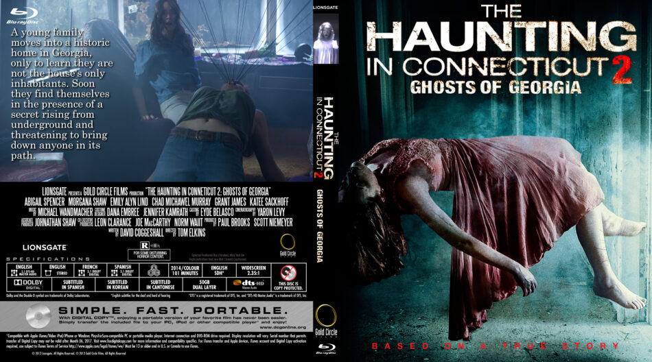 The Haunting in Connecticut 2: Ghosts of Georgia dvd cover