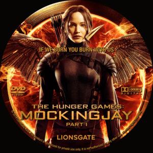 The Hunger Games: Mockingjay - Part 1 dvd label