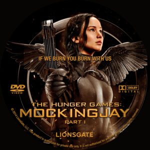 The Hunger Games Mockingjay Part 1 custom label