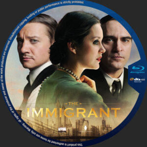 The Immigrant blu-ray dvd label