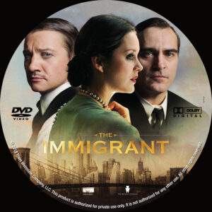 The Immigrant dvd label