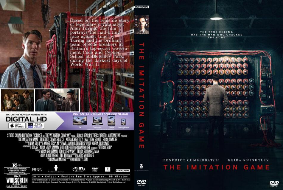 The Imitation Game Dvd Cover Label 2014 R0 Custom Art