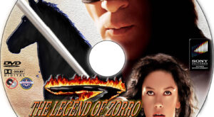 The Legend of Zorro dvd label