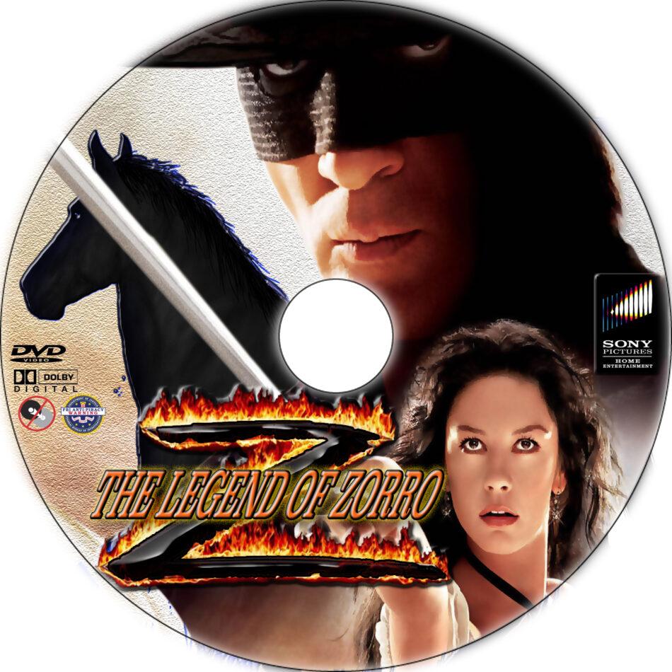 The Legend of Zorro dvd label