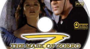 The Mask of Zorro dvd label