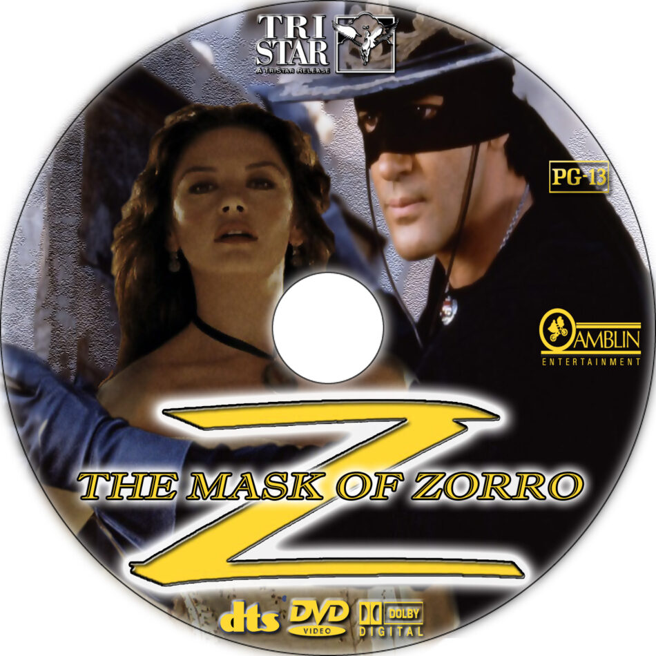 The Mask of Zorro dvd label