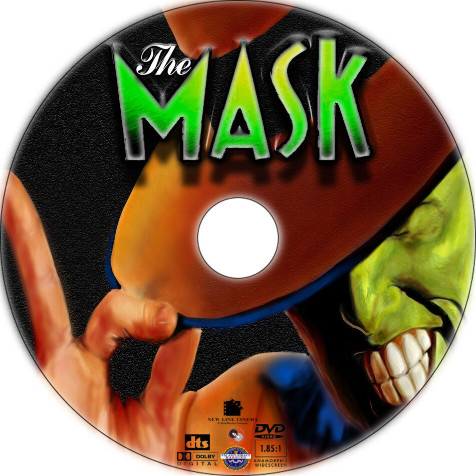 The Mask dvd label