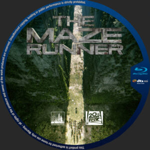 The Maze Runner blu-ray dvd label