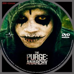 The Purge Anarchy dvd label