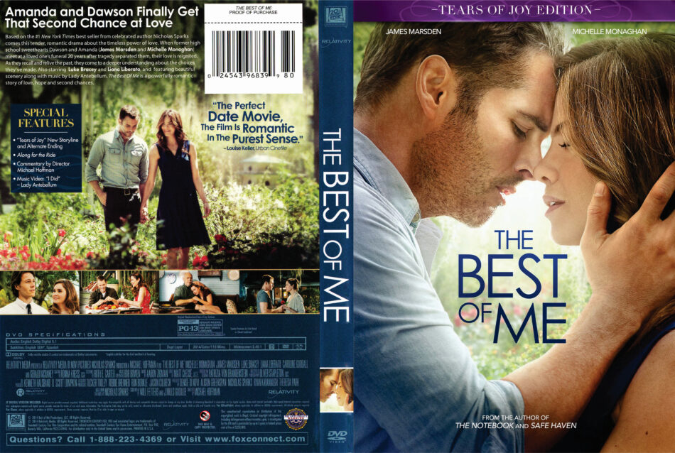 The Best of Me dvd cover