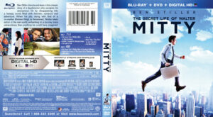 The Secret Life of Walter Mitty blu-ray dvd cover