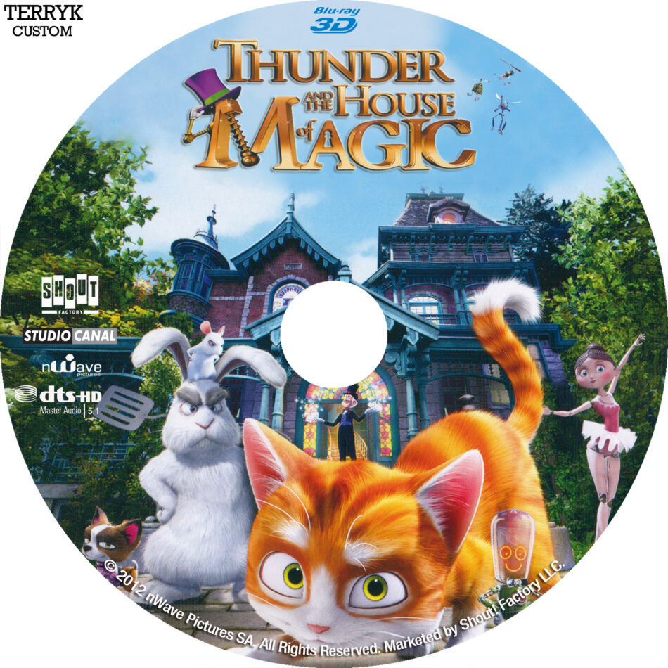 Thunder and the House of Magic (Blu-ray) Custom 3D Label