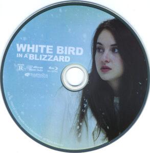 White Bird in a Blizzard blu-ray dvd label