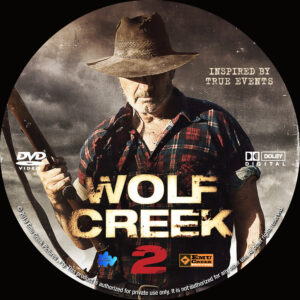 Wolf Creek 2 dvd label
